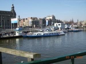 Canal Boat di Amsterdam...